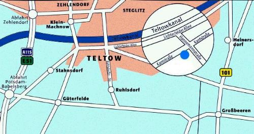 Map of the research center Teltow-Seehof